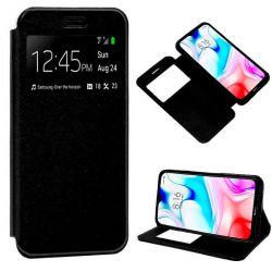 Funda de Tapa con Imán, Ventana y Soporte para Xiaomi Redmi 8 Negro