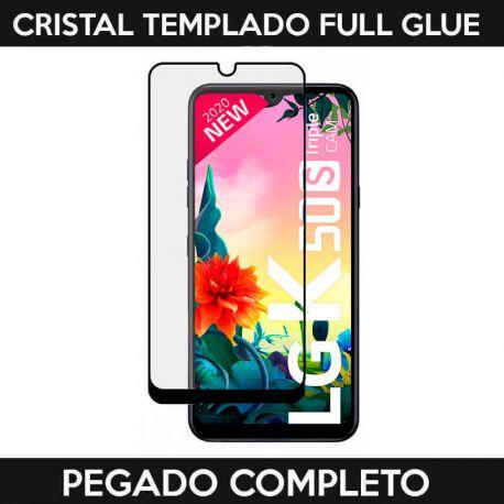Protector de pantalla de Cristal Templado Full Glue para LG K50S Negro