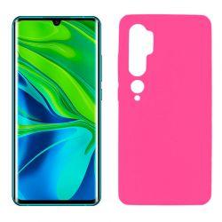 Funda de silicona rosa para Xiaomi Mi Note 10 Semitransparente y mate