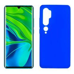 Funda de silicona Azul para Xiaomi Mi Note 10 Semitransparente y mate