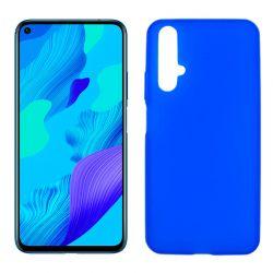 Funda de silicona Azul para Huawei Nova 5T / Honor 20 Semitransparente