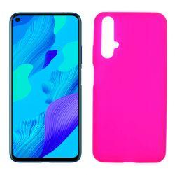Funda de silicona rosa para Huawei Nova 5T / Honor 20 Semitransparente