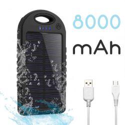 Batería Externa Solar para Móvil y Tablet de 8000 mAh