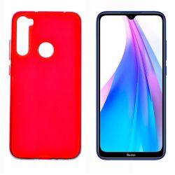 Funda de silicona roja para Xiaomi Redmi Note 8T Semitransparente y mate