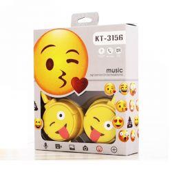 Auriculares infantiles de Emoji ajustables con micrófono