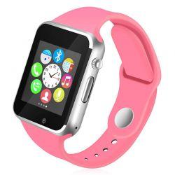 Smartwatch A1 Bluetooth con Cámara, Altavoz, Micrófono y Sim Rosa
