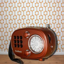 Altavoz Bluetooth Retro con Radio FM AM y SW, USB y Ranura Micro SD