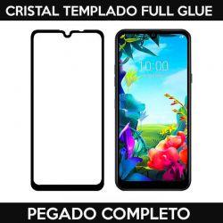 Protector de pantalla de Cristal Templado Full Glue para LG K40S Negro