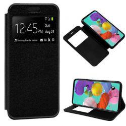 Funda libro con tapa, ventana y soporte Samsung Galaxy A51 Negro
