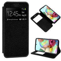 Funda libro con tapa, ventana y soporte Samsung Galaxy A71 Negro