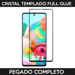 Protector pantalla Cristal Templado Full Glue para Samsung Galaxy A71