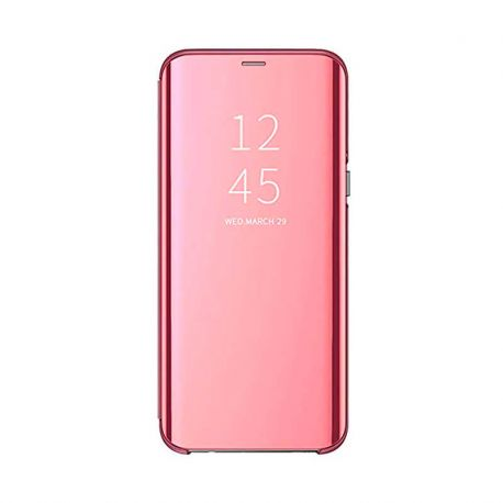 Funda con tapa de espejo rosa Clear View para iPhone 11 Pro