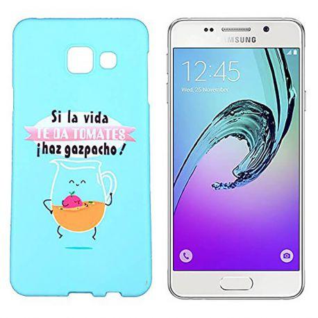 Funda de Silicona para Samsung Galaxy A3 2016 dibujo y frase Gazpacho