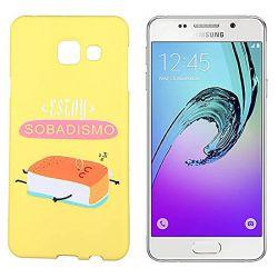 Funda de Silicona para Samsung Galaxy A3 2016 dibujo y frase Sobadísimo