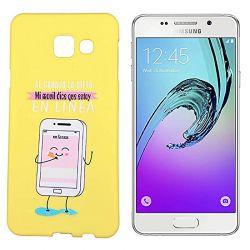 Funda de Silicona para Samsung Galaxy A3 2016 dibujo y frase En Línea