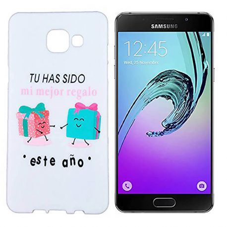 Funda de Silicona para Samsung Galaxy A3 2016 dibujo y frase Regalo