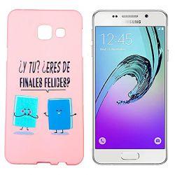 Funda de Silicona para Samsung Galaxy A3 2016 dibujo y frase Libro