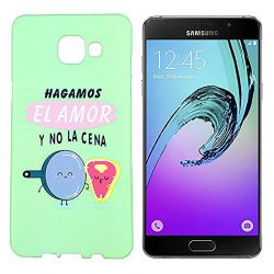 Funda de Silicona para Samsung Galaxy A3 2016 dibujo y frase Amor