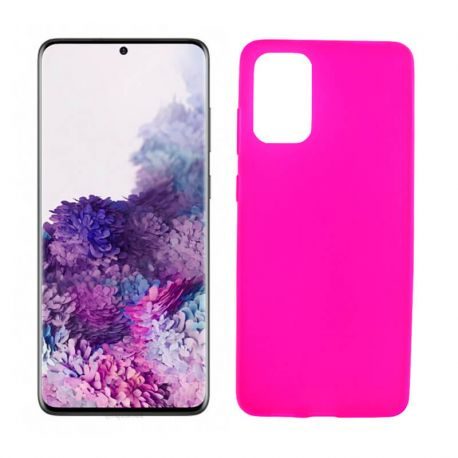 Funda rosa silicona Samsung Galaxy S20 Plus, trasera mate semitransparente