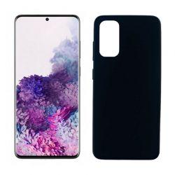 Funda negra silicona Samsung Galaxy S20 Plus, trasera mate
