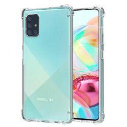 Funda de esquinas reforzadas transparente para Samsung Galaxy A71
