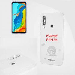 Funda de silicona con protección para cámara para - Huawei P30 Lite