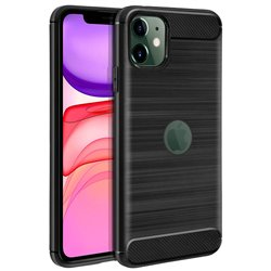 Funda Silicona diseño fibra de carbono - iPhone 11