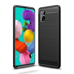 Funda Silicona diseño fibra de carbono - Samsung Galaxy A51