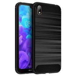 Funda Silicona diseño fibra de carbono - Huawei Y5 2019