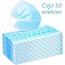 Caja 50 Mascarillas desechables de 3 capas