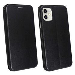 Funda con tapa para iPhone 11 Forcell Elegance Negro