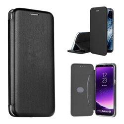 Funda con tapa para Samsung Galaxy A71 Forcell Elegance Negro
