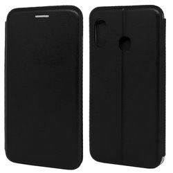 Funda con tapa para Samsung Galaxy A40 Forcell Elegance Negro