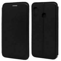 Funda con tapa para Samsung Galaxy A20E Forcell Elegance Negro