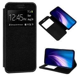Funda con Tapa y Ventana para Xiaomi Redmi Note 8 Negro