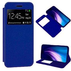 Funda con Tapa y Ventana para Xiaomi Redmi Note 8 azul