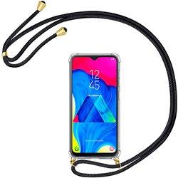 Funda colgante con cordón para Samsung Galaxy A10 / M10 Negro
