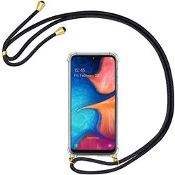 Funda colgante con cordón para Samsung Galaxy A20E Negro