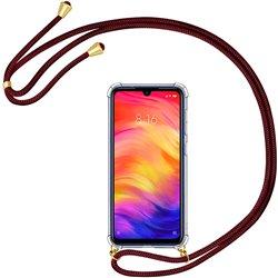 Funda colgante con cordón para Xiaomi Redmi Note 7 Burdeos