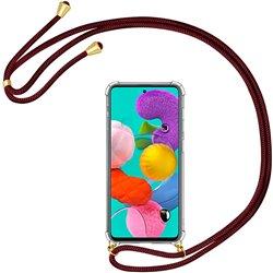Funda colgante con cordón para Samsung Galaxy A51 Burdeos