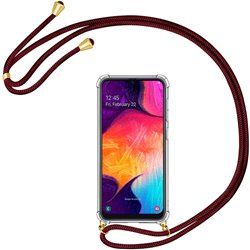 Funda colgante con cordón para Samsung Galaxy A30S / A50 Burdeos