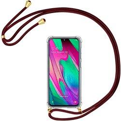 Funda colgante con cordón para Samsung Galaxy A40 Burdeos