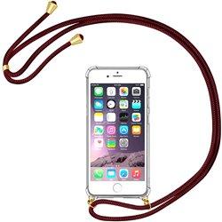 Funda colgante con cordón para iPhone 8 / iPhone 7 Burdeos