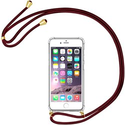 Funda colgante con cordón para iPhone 8 Plus / iPhone 7 Plus Burdeos