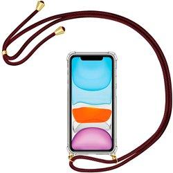 Funda colgante con cordón para iPhone 11 Burdeos