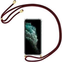 Funda colgante con cordón para iPhone 11 Pro Burdeos
