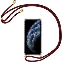 Funda colgante con cordón para iPhone 11 Pro Max Burdeos