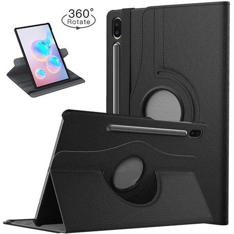 Funda con tapa Giratoria 360 para Samsung Galaxy Tab S6 Negro