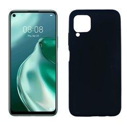 Funda de silicona negra para Huawei P40 Lite