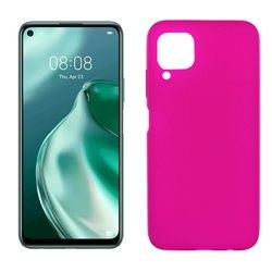 Funda de silicona rosa para Huawei P40 Lite